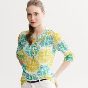 Milly for BR Medallion Printed Pop-over top Size 4